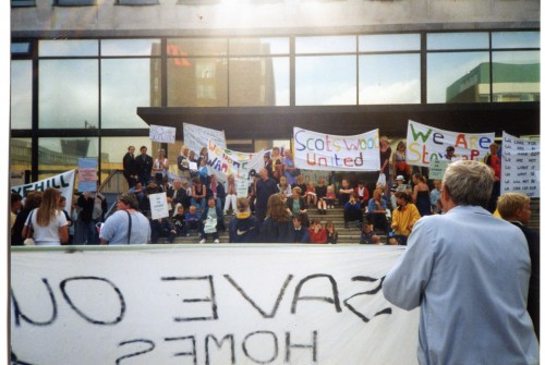 Save Scotswood Campaign, protest at Newcastle Civic Centre, 2000